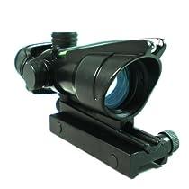 1x32 True Fiber Optic Green dot sight sighting system w/ backup battery power