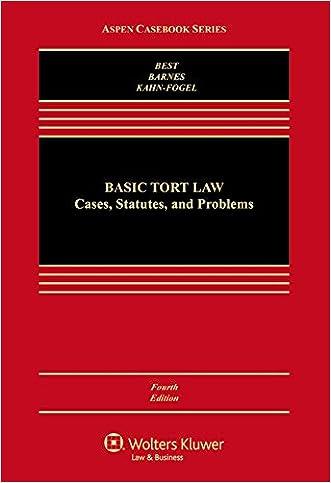 Basic Tort Law: Cases Statutes & Problems (Aspen Casebook)