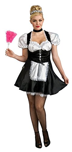 5 Piece Deluxe Black and White French Maid Costume Set