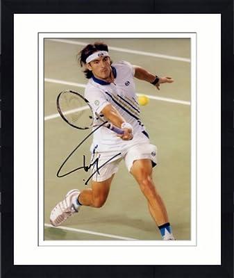 Framed Signed Tommy Robredo 8x10 Photo - JSA/SM - - JSA Certified - Autographed Tennis Photos