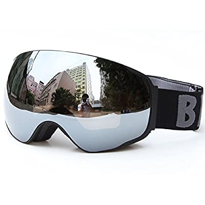 Snow Ski Goggles Winter Outdoor Sports Wide Vision Unisex Adult Detachable Layer Anti-fog UV-protection Spherical Double Lens