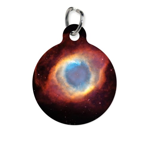 Cafepress Helix Nebula, Hst Image - Round Pet Tag - Standard White [Misc.]