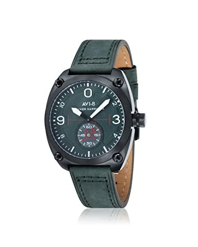 AVI-8 Men's AV-4026-04 Hawker Harrier II Green Leather Watch