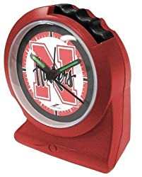 Nebraska Cornhuskers NCAA Gripper Alarm Clock