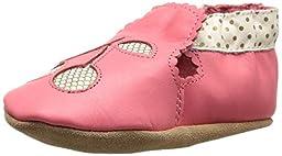 Robeez Cherry Soft Sole Crib Shoe (Infant), Sorbet, 12-18 Months M US