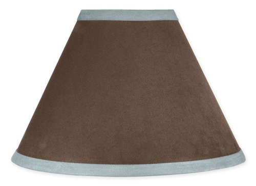 Sweet Jojo Designs Lamp Shade - Soho Blue And Brown Baby front-232649