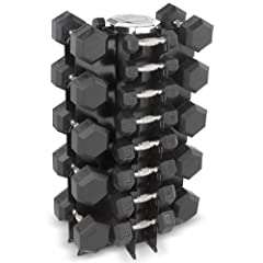 Buy Hampton Fitness Dura-Bell 13 Pair Dumbbell Set with V4-13 Rack by Hampton