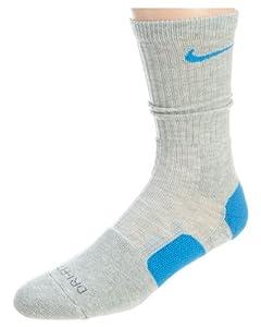 Nike Elite Socks (large,Grey/Blue)