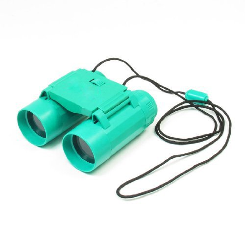Toogoo(R) Child 26Mm 2.5X Folding Binoculars Telescope Toy Teal Green W Neck Strap