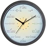 CafePress Decorative Math blue gradient Wall Clock
