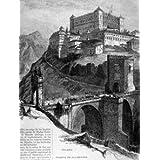 Grabado antiguo (1887) - Xilografía - Toledo.- Puente De Alcántara (16.5x21), Desconocido