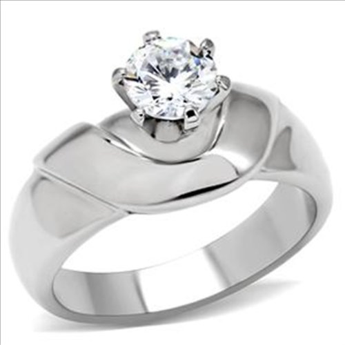 Brilliant cut 1.5ct cz Engagement Ring 316 Stainless Steel Cubic Zirconia (10)