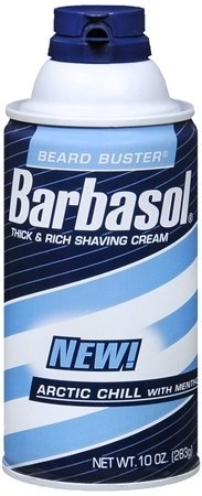 Barbasol Thick and Rich Shave Cream Arctic Chill with Menthol- 10 Oz