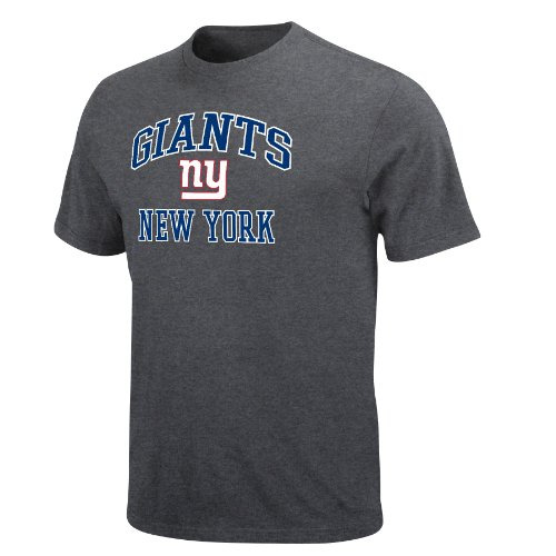 NFL Men&#039;s New York Giants Heart And Soul Ii Adult Short Sleeve Basic Tee (Heather Gray, X-Large) at Amazon.com