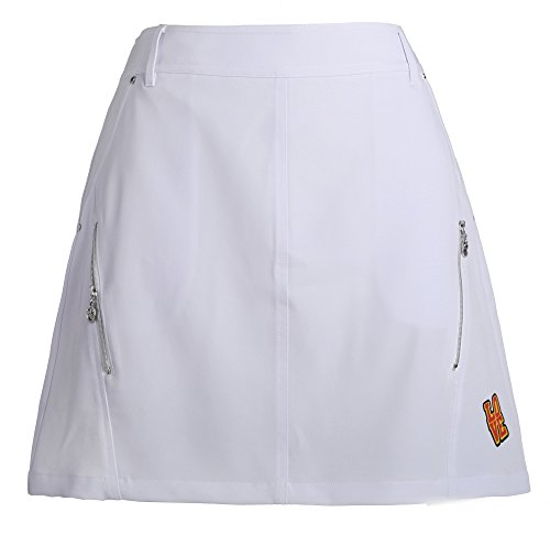 SVG Ladies Stretch Summer Golf Skirt  Women White Golf Skort