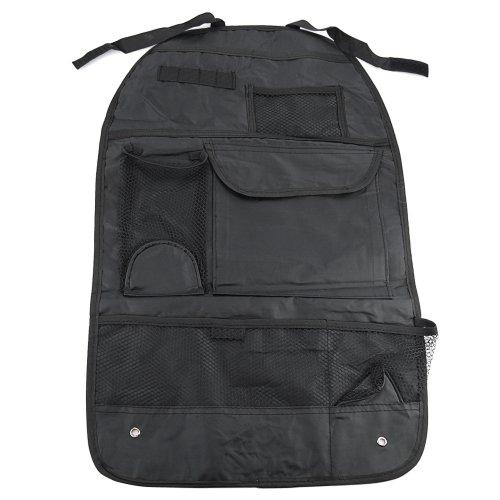 Car Truck Van Back Rear Seat Headrest Organizer Holder Multi-Pocket Travel Storage Bag Hanger Black front-965770