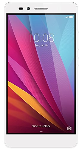 Honor 5X Smartphone, 5.5 Pollici, WiFi 802.11 b/g/n, Bluetooth 4.1, 1.5 GHz Octa-Core, Qualcomm, 2 GB RAM, 16 GB Memoria Interna, Fotocamera da 13 MP/5 MP, LTE, Android 5.1, Argento