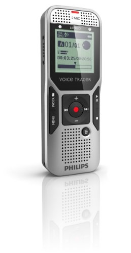 Philips Dvt1400/00 4Gb Digital Voice Tracer With 2 Built-In Microphones