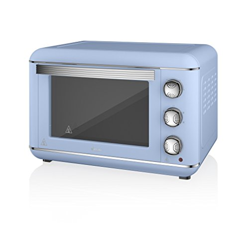 Swan Products SF37010BLN Retro Electric Oven, 23 Litre, 1500 W, Blue