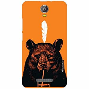 Micromax Canvas Juice 2 Back Cover - Silicon Animal Print Designer Cases