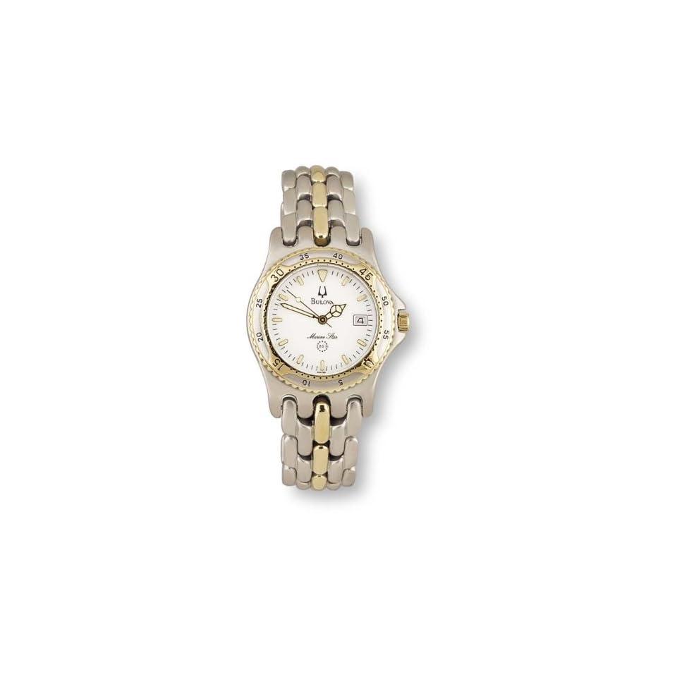 Mens Bulova Marine Star 2 tone Watch