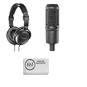 Audio-Technica USBi Condenser Microphone with ATH-M10 Professional Studio Headphones