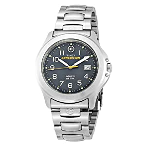 3770879a4bb5 Timex Men s T46861 Metal Field Expedition Stainless Steel Bracelet Watch