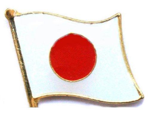 【Lucky】 頑張れ!ニッポン!胸にはためく 日の丸 日本 ピンバッジ フラッグ ジャパン ピン バッジ 国旗 祝!2020年東京オリンピック
