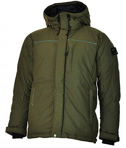 Puma FD NightCat Down Jacket Uomo cappuccio piumino giacca invernale kaki, Dimensione:M