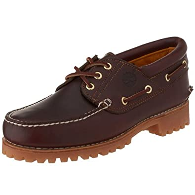 Timberland Men's 50009 Authentics 3-Eye Classic Lug Boat Shoe, Burgundy/Brown,5 M