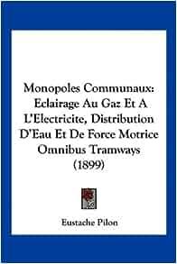 Monopoles Communaux: Eclairage Au Gaz Et A L'Electricite