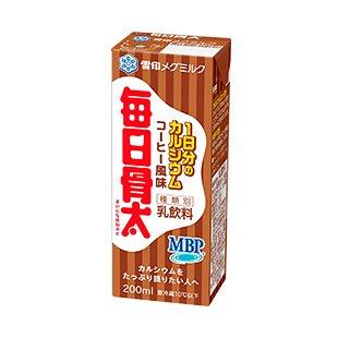 雪印メグミルク 毎日骨太 1日分のカルシウム コーヒー風味 200ml 18本