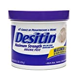 Desitin Diaper Rash Paste, Maximum Strength Original Paste 16 oz (Quantity of 2)