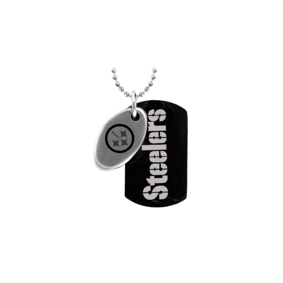 NFL Football Black Pittsburgh Steelers Dog Tag Necklace 26 Jewelry ... bc10d098d