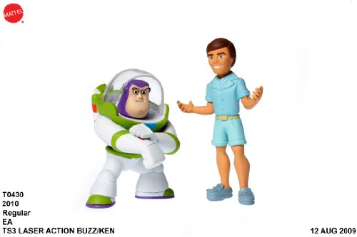 Disney Pixar Toy Story 3 Buddy Pack Laser Buzz Lightyear & Ken Action Links - 1