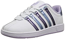 k-SWISS Classic VN Sneaker (Infant/Toddler/Little Kid/Big Kid), White/Pastel Lilac/Blue Havana, 3 M US Infant