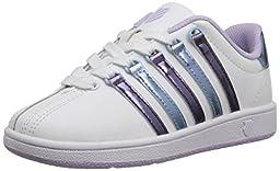 k-SWISS Classic VN Sneaker (Infant/Toddler/Little Kid/Big Kid), White/Pastel Lilac/Blue Havana, 3 M US Infant