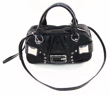 Guess Sylvie Box Bag Coal Ladies Signature Handbag Purse SI240519