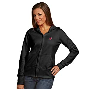 Arizona Cardinals Ladies Zip Front Hoody Sweatshirt (Alternate Color) by Antigua