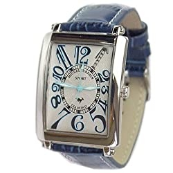 [ミッシェルジョルダン]michel Jurdain 腕時計 スポーツ ダイヤモンド レザー ホワイトxブルー メンズ SG3000-5 メンズ 【正規輸入品】