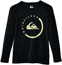 Quiksilver Clastyevelogo T-Shirt manches longues Garçon Noir FR : 14 ans (Taille Fabricant : L/14)
