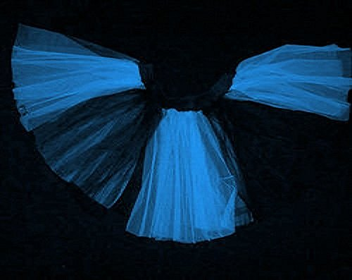 Plus Size Blue Black Stripe 2 Tone Tutu Dance Halloween Free Shipping