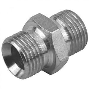 "Hydraulic Male/Male ADAPTOR 3/8"" BSP"