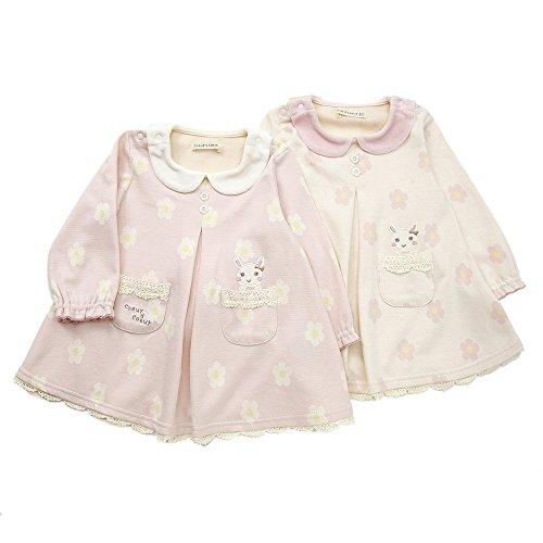 coeur a coeur(クーラクール)ワンピース (70~100cm) キムラタンの子供服 ピンク 80 (44408-154)