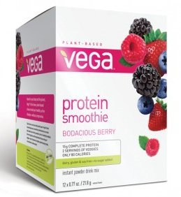 Vega Protein Smoothie Packet, 12 Count, Bodacious Berry front-776505