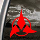 Star Trek Red Decal Klingon Car Truck Window Red Sticker