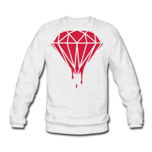 Spreadshirt, Dripping Diamond, Men's Sweatshirt, salt & pepper, L