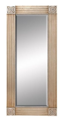 "Wood Framed Beveled Mirror 56""H, 25""W"