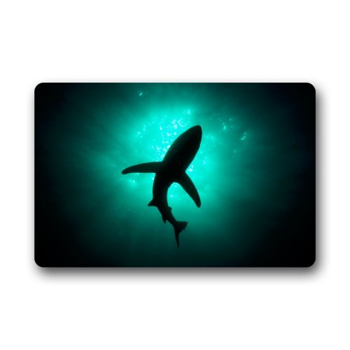 Abstract Sea Shark Silhouette Ocean Animal Fish Doormats Floor Mat Door Mat Rug Indoor/Outdoor Mats Welcome Doormat 23.6
