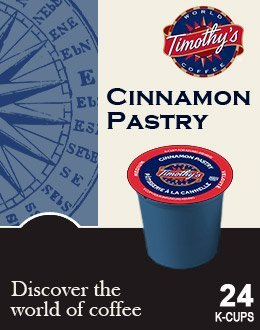 Timothy's World Coffee CINNAMON PASTRY & GERMAN CHOCOLATE CAKE Flavored Variety Pack 48 K-Cups for Keurig Brewers (German Chocolate Cake Kcup compare prices)